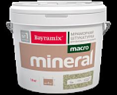 Штукатурка Bayramix Макроминерал мраморная, 15 кг